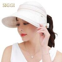 SIGGI verano de Las Mujeres sombrero de sun visor de ala ancha plegable 100% ropa upf50 uv cap vent tamaño libre de la manera 89326