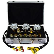 Escavatore Idraulico Kit di Prova di Pressione, Portatile di Prova Idraulica Calibro, Prova di Pressione Calibro di Accoppiamento 9000 PSI Max