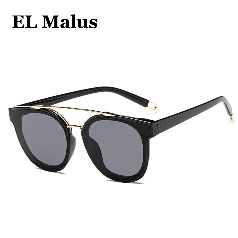 c625dbbb55  EL Malus Big Round Metal Frame Sunglasses Women Mens Polarized Vintage Sun  Glasses Red Pink Mirrors Brand Designer Male Female-in Sunglasses from  Apparel ...