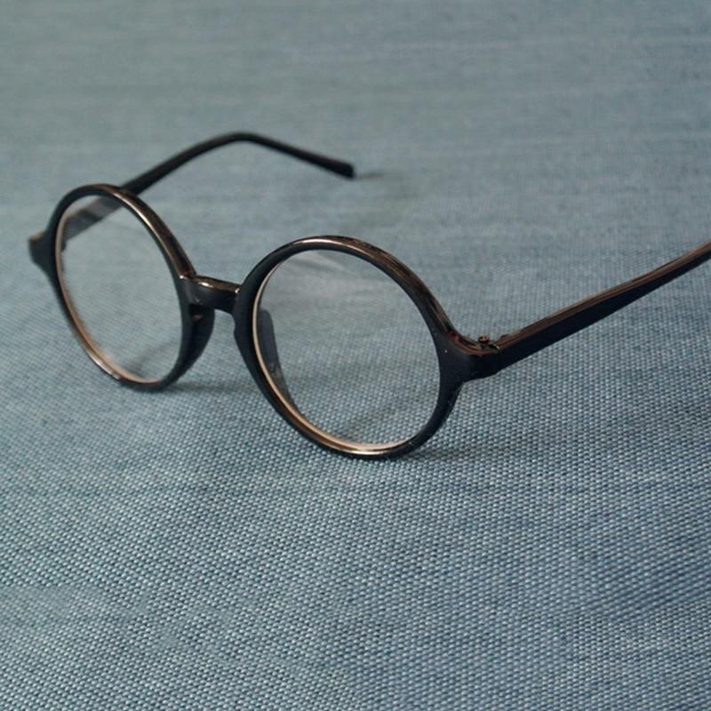 Cubojue Round Glasses Men Women Circle Eyeglasses Frame Man Black Transparent Small 43-58mm Oversized Nerd Eyeglass With Lens