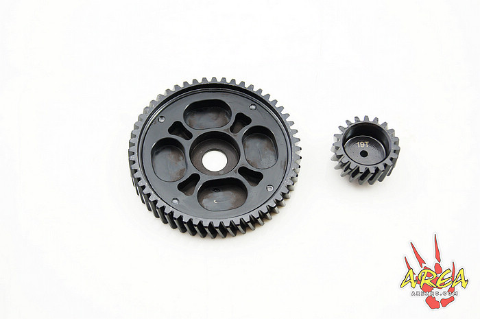 Area Rc Zone helical Black T52/19 for HPI BAJA 5B 5T 5SC NEW free shipping area rc steering servo arm set for hpi baja 5b 5t 5sc