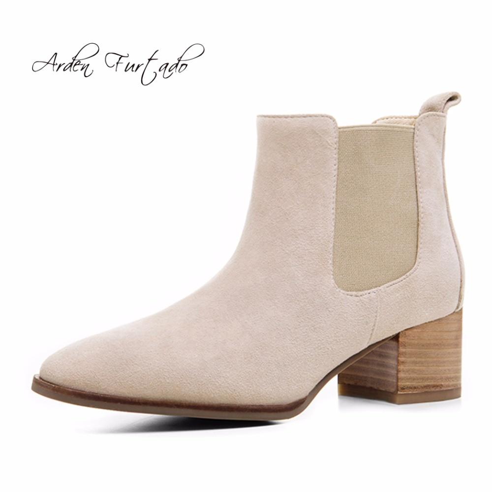 achetez en gros chelsea bottes en daim brun en ligne à des