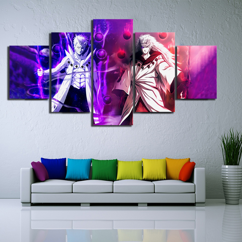 HD Print Canvas Painting Anime Naruto Uchiha Obito and Madara The Sage of The Six Paths Wall Decor Cuadros Decoracion 1