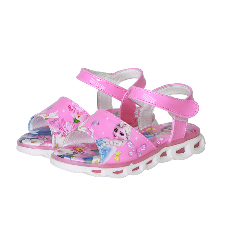 frozen girls princess Sophia sandals with new LED light elsa and Anna princess kids Cartoon shoes Europe size 26-33frozen girls princess Sophia sandals with new LED light elsa and Anna princess kids Cartoon shoes Europe size 26-33