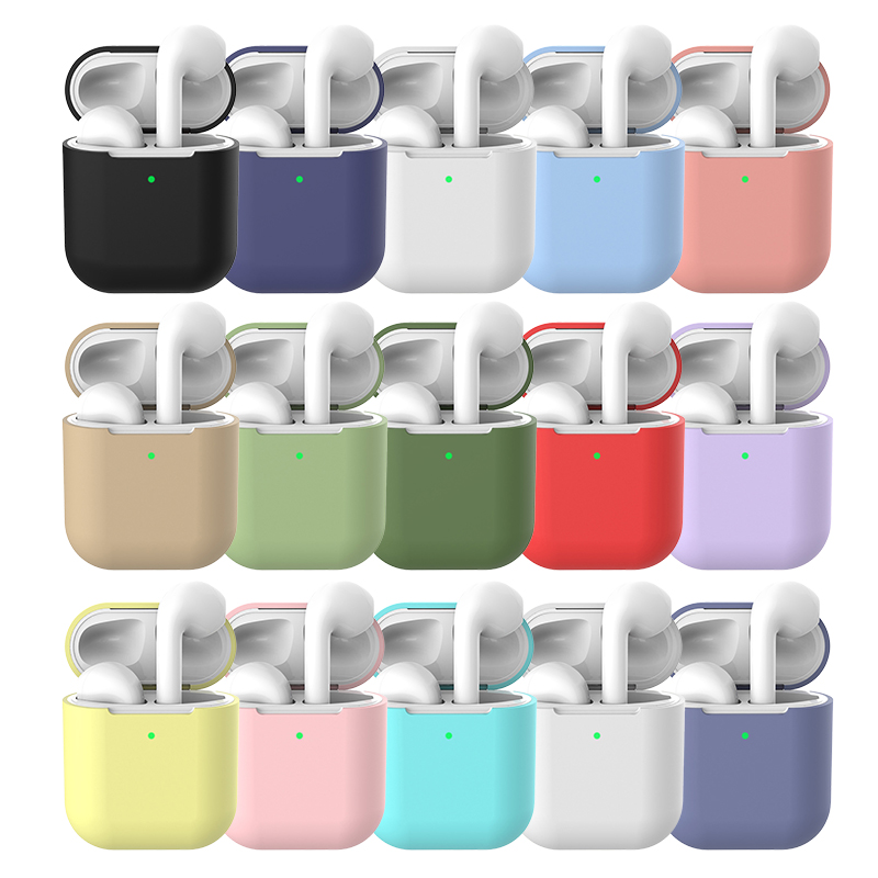 Silicone Case For Apple Airpods2 Soft Shockproof Cover For Apple AirPods 2 Thickening Earphone Cases Air Pods2 Protector Case