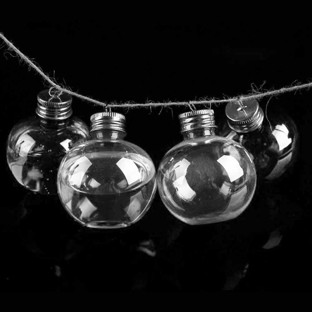 6pcs หลอดไฟลูกขวดน้ำ Booze Filled Christmas Tree เครื่องประดับน้ำขวดน้ำผลไม้หลอดไฟถ้วย Xmas Decor living