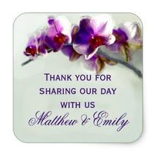1.5inch Radiant Orchid Painting Square Sticker