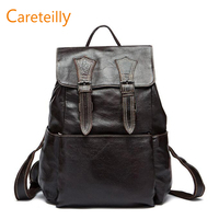 Leather Laptop Backpack Travel Bag Schoolbag Adventure Bag