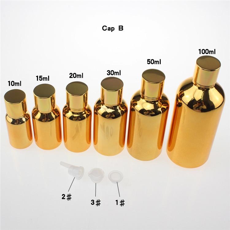100 copë ari 50ml shishe qelqi luksoz me vaj thelbësor me kapak - Mjet për kujdesin e lëkurës - Foto 5