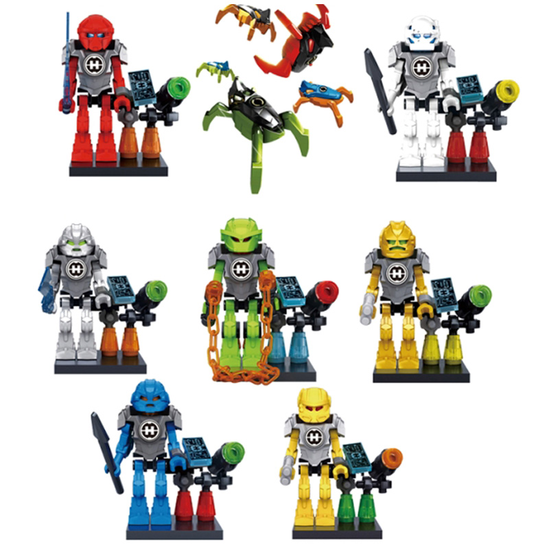 2018 NEW Movie Transformation Robot Turtles Dinosaur Dragon Ninja go Snake Pythor Building Blocks Sets Bricks Toy 713 ...