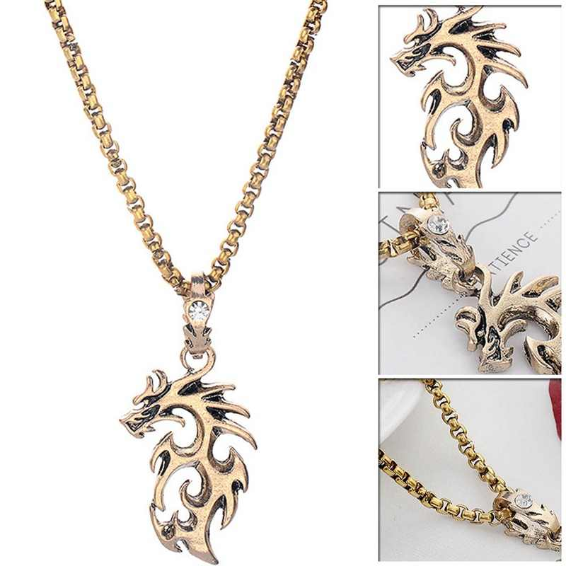 Baru Perak Emas Liontin Kalung Pesona Kalung Fashion Perhiasan Collares Hadiah