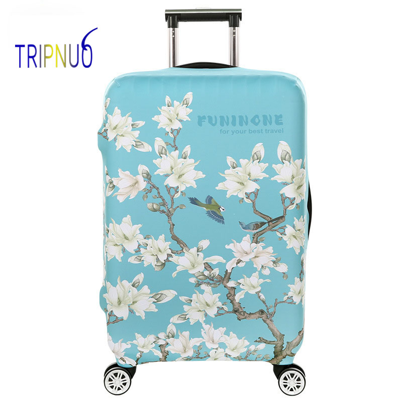 TRIPNUO Thickest Travel Flamingos Luggage Cover Suitcase Protective Cover For Trunk Case Apply To 19''-32'' Suitcase Elastic