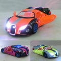 Children Lights & Sound Caipo Bugatti GT Diecast Car Model 5.5inch1:32 Diecasts Metal Cars Toy Pull Back Gift For Kids