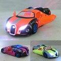 Niños Luces y Sonido Bugatti Caipo GT Diecast Car Model 5.5inch1: 32 Funde Metal Tire Hacia Atrás de Coches de Juguete de Regalo para Los Niños