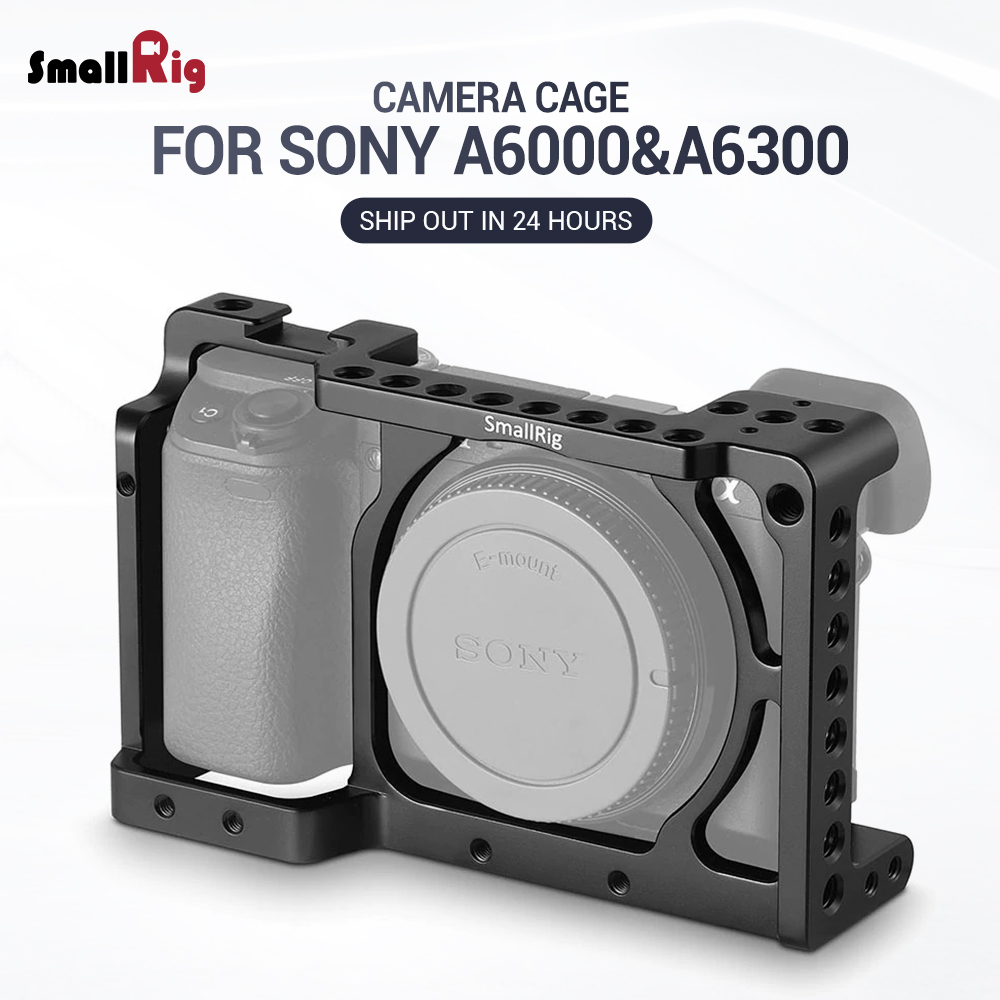SmallRig DSLR Camera Cage for Sony Alpha A6300 / for Sony Alpha A6000 / Nex 7 Camera W/ Shoe Mount For Microphone Flash Light