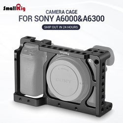SmallRig  DSLR Camera Cage for Sony Alpha A6300 / for Sony Alpha A6000 / Nex-7 Camera W/ Shoe Mount For Microphone Flash Light