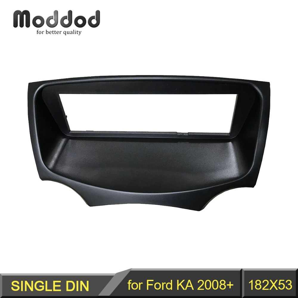 One Din Audio Fascia for Ford KA 2008+ Stereo Radio GPS DVD Stereo CD Panel Dash Mount Installation Trim Kit Frame