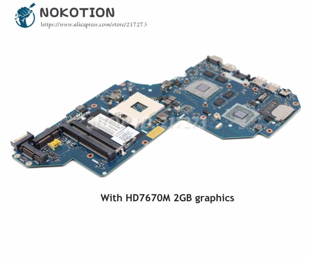 NOKOTION QCL50 LA-8711P For HP Pavilion M6-1000 Laptop Motherboard 698399-001 686930-001 HM76 DDR3 HD7670M 2GB