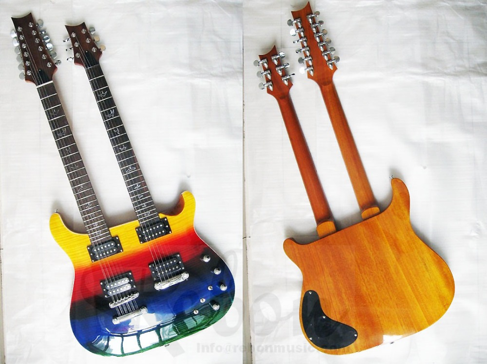 weifang rebon prs double neck 12 string electric guitar in guitar from sports entertainment. Black Bedroom Furniture Sets. Home Design Ideas