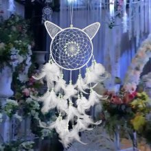 hot new luminous stone christmas dream catcher wind chimes cat dreamcatcher decorations - Nostalgic Christmas Decorations