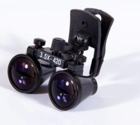 3.5X Surgical Dental Loupes magnifying 280-380mm Working diatance Clip binocular loupes