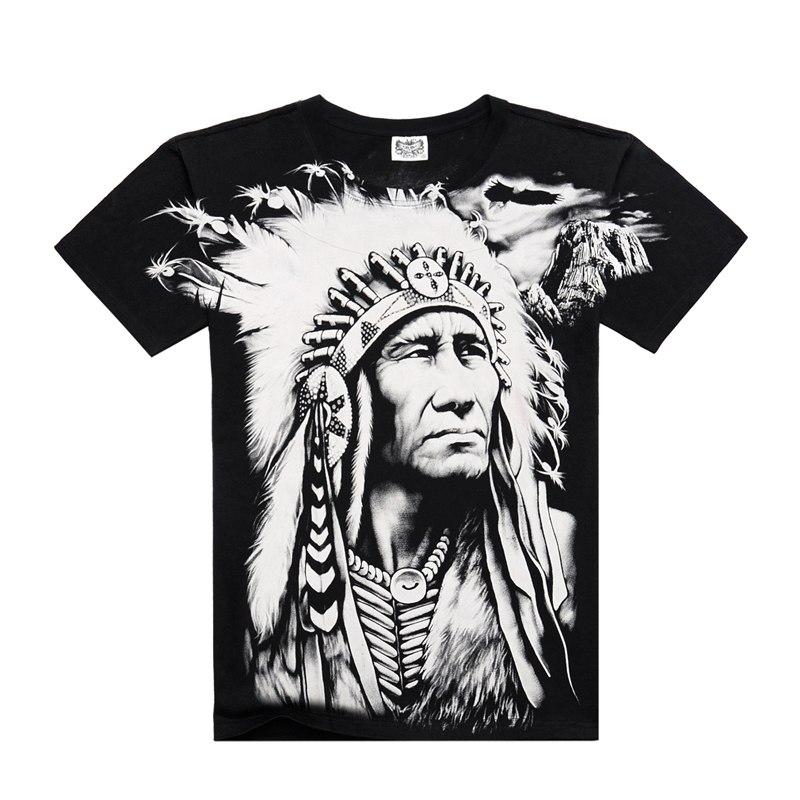 Nieuwe T-shirts Cool 2016 Fashion heren Katoenen Mouw 3D Gedrukt - Herenkleding - Foto 1