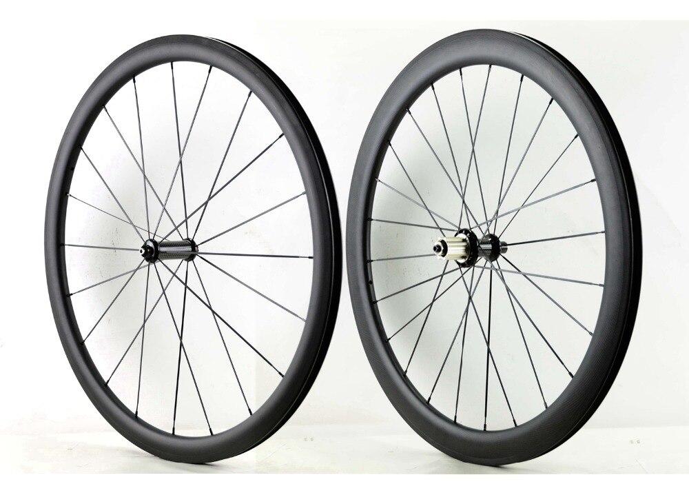 700C Avant 38mm Arrière 50mm profondeur route carbone roues 25mm largeur vélo pneu/Tubulaire en fiber de carbone roues avec Powerway R36 hub