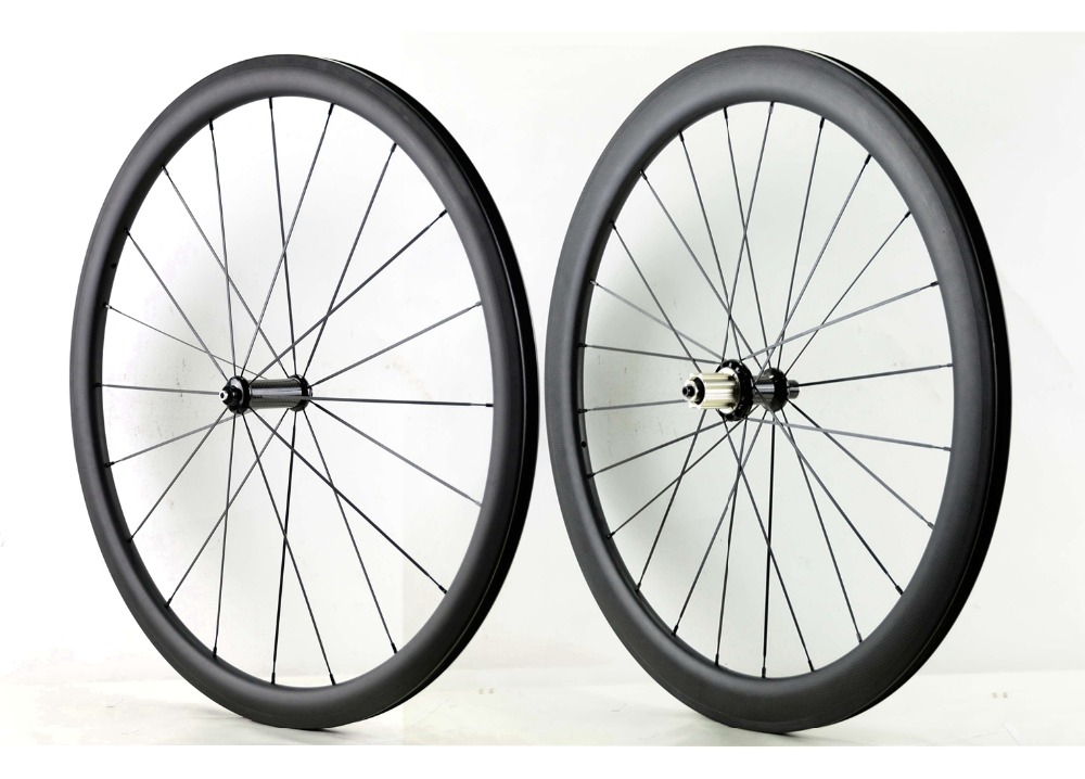 Freeshipping Front 38mm Rear 50mm depth road carbon wheels 25mm width bike Clincher carbon fiber wheelset with PowerwayR36 hub width 25mm 700c custom sticker chinese carbon cyclocross road bike disc clincher wheels 38mm qr front 9 100mm rear 9 135mm