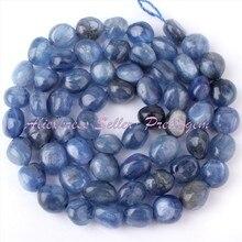Envío Libre 4-6×6-9mm Freeform Azul Cianita Naturales Para El Collar Bracelat Making Joyería DIY Spacer Loose Beads Strand 15″