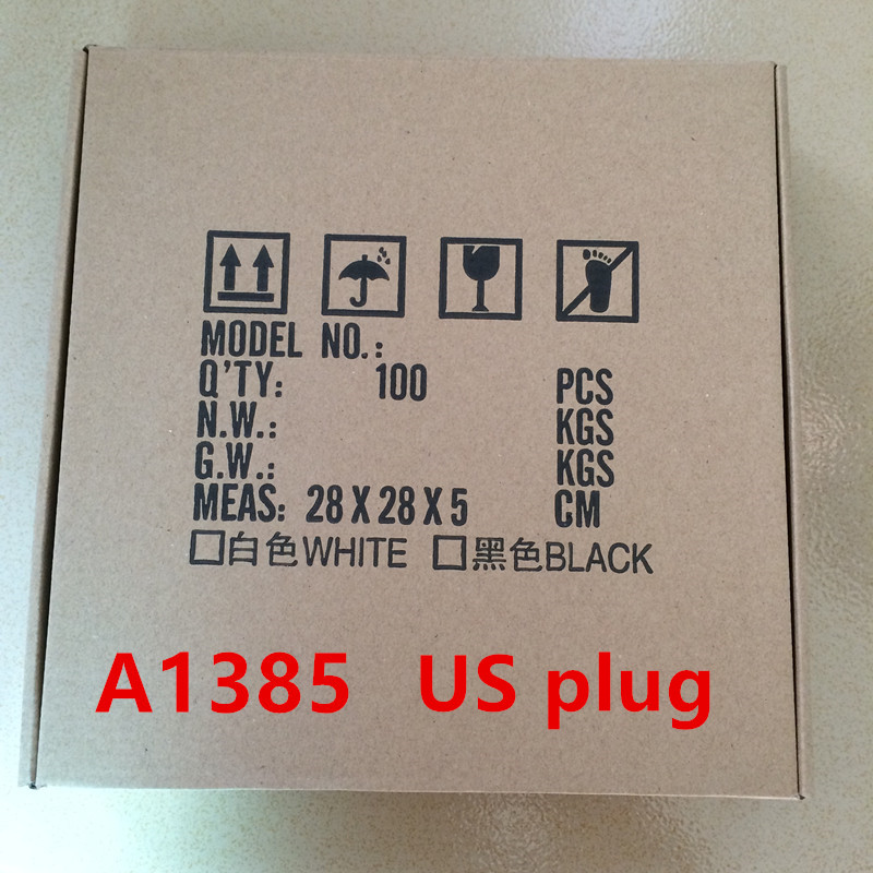 100pcs lot High Quality A1385 US Plug USB Wall Charger AC Power Adapter for iphone 8