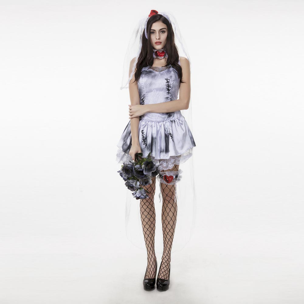 Online buy wholesale adult corpse bride costume from china for Corpse bride wedding dress for sale
