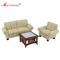1/12 scale dollhouse miniature living room furniture Sofa Chair Tea table 3 pcs set
