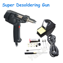 Desoldering Pump Electric Suction Tin Machine Desoldering Gun Portable Single High-power Suction Gun 100W Welding Repair Tools aoyue 8800 handheld desoldering gun electric vacuum desoldering dual barrel pump portable desoldering tool