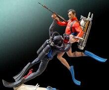 1/32 54mm מתחת למים מאבק 54MM צעצוע שרף דגם מיניאטורי שרף דמות Unassembly לא צבוע