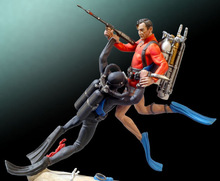 Figura de resina en miniatura sin montar, juguete de lucha subacuática de 54mm, sin pintar, 1/32