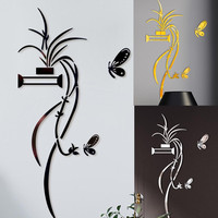 2020 3D DIY Flower Shaped Acrylic Wall Sticker Modern Mirrored Stickers Decoration Living Room Bedroom TV Wall Home Decals Decor