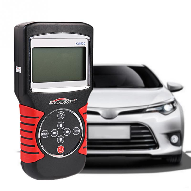 цены  KW820 OBDII EOBD Automotive Fault Diagnostic Scanner Tester Auto Code Reader Work For US Asian European Vehicles