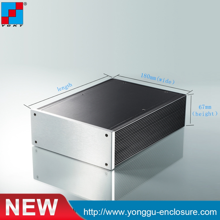 180*67-250 mm (WxH-D)1.5U amplifier aluminum chassis/audio amplifier case new arrival gof p01 248 4x81 5x209 mm wxh d anodizing aluminum enclosure stereo case