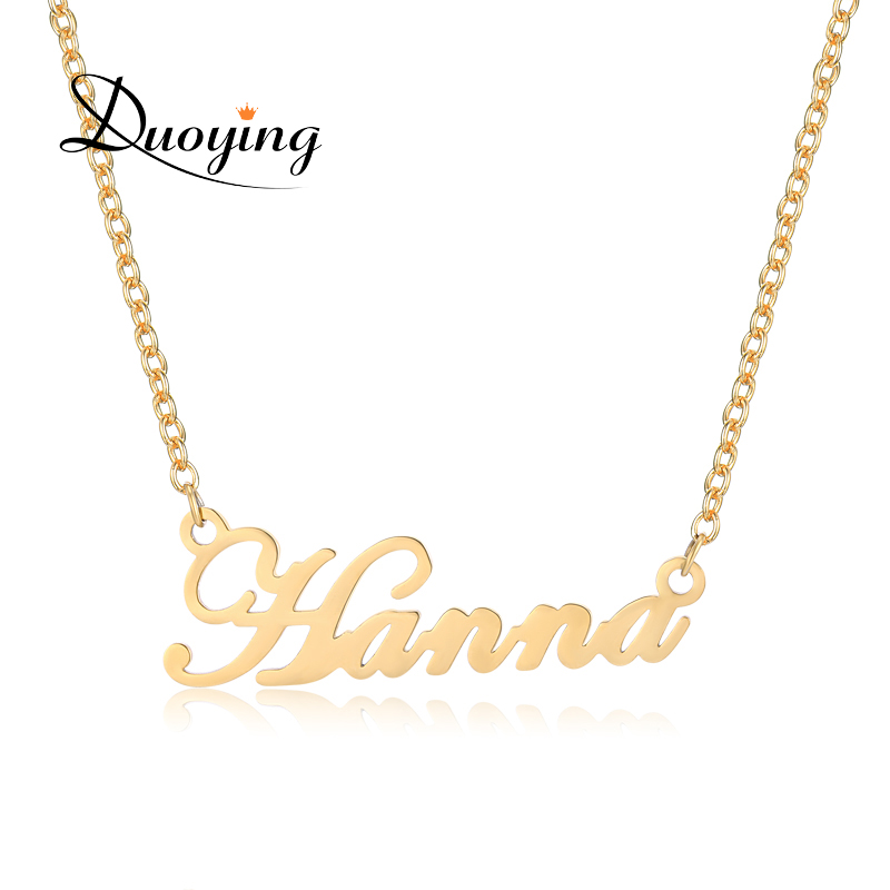 duoying custom necklace personalize choker necklace women copper pendant fascinating name. Black Bedroom Furniture Sets. Home Design Ideas