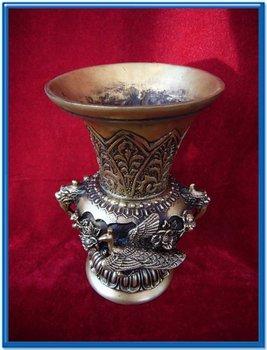 Very rare Ming Dynasty (xuan de1426-1438) copper Dargon Phoenix vase,free shipping фото