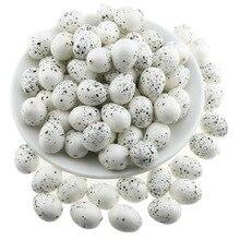 купить Gresorth 100pcs Fake MINI Eggs Decoration Artificial Quail / Pigeon Egg Food Toy Home Kitchen Restaurant Show - White дешево