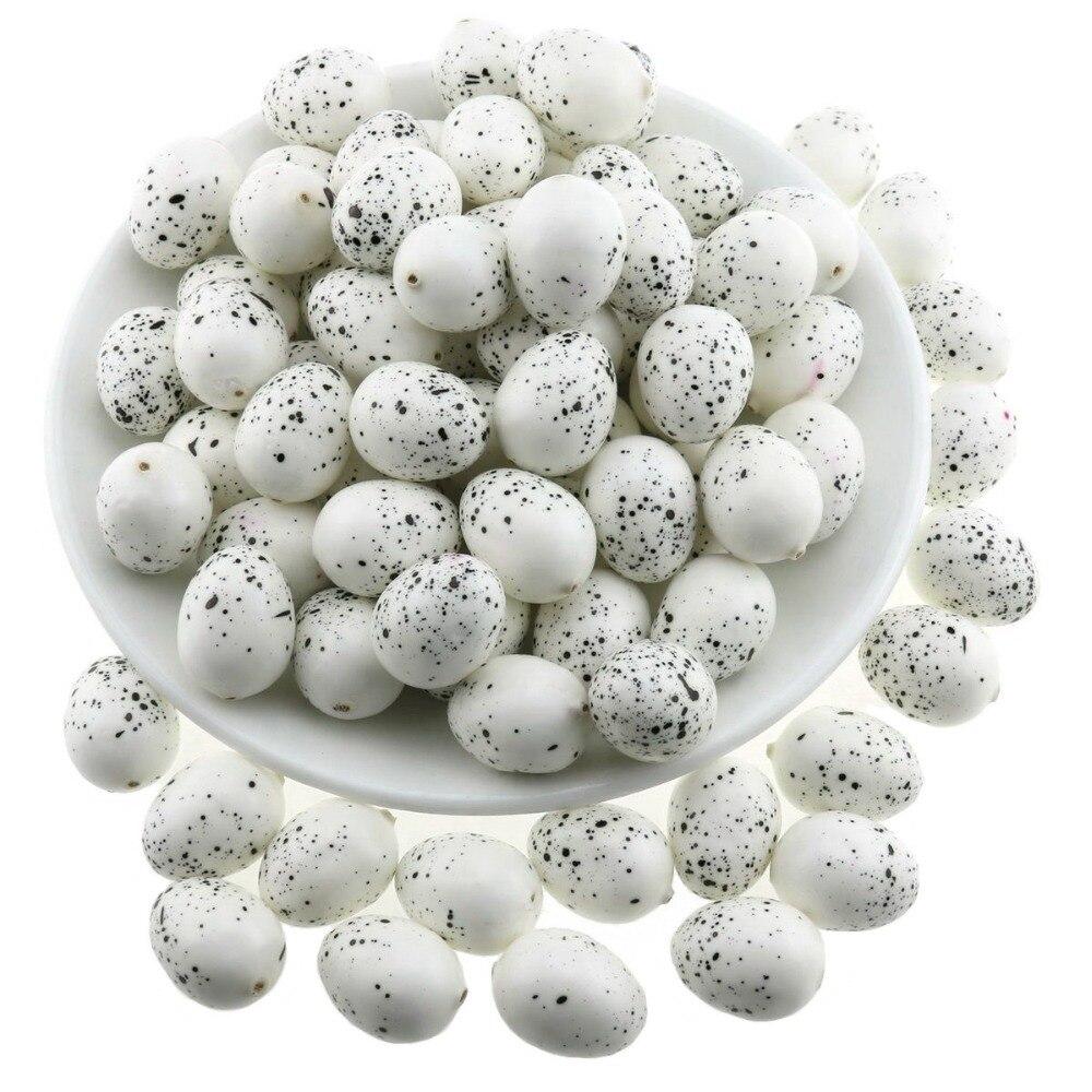 Artificial de Ovos de Codorna Gresorth Falso Mini Decoração – Pombo Ovo Brinquedo Comida Home Kitchen Restaurant Show-branco 100 Pcs