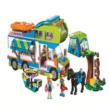 цены Friends girls Series The Mia's Camper Van Camping Adventure Building Blocks  Compatible 41339brick birthday gift for girls