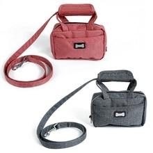 Набор для прогулочных собак-маленькие сумки, поводок, водонепроницаемые маленькие сумки для хранения мешков для мусора, нейлоновый поводок, фиксирующий на сумке