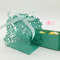 50pcs Set Flower Pattern Candy Boxes For Wedding Gift Birthday Anniversary Party Favors Small Gifts Candy