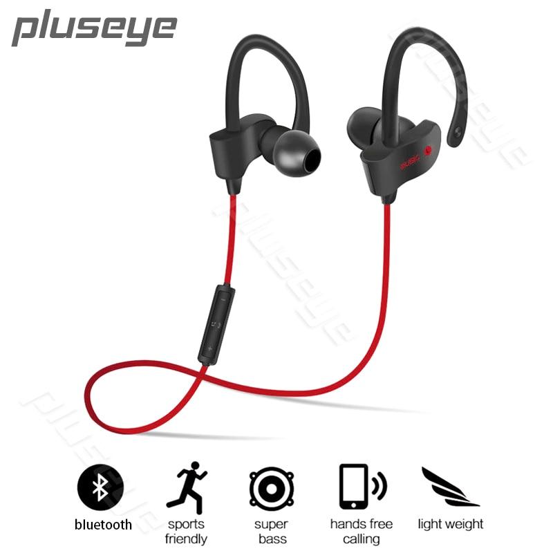 Pluseye Sports In-Ear Wireless Bluetooth Earphone Stereo Earbuds Headset Bass Earphones with Mic for iPhone   xiaomi