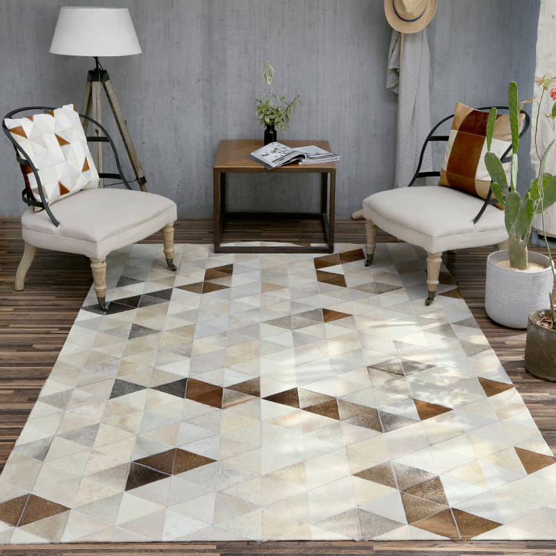 Bedroom Sofa Table: Imported Cowhide Carpet Livingroom Home Decor Fur Carpet