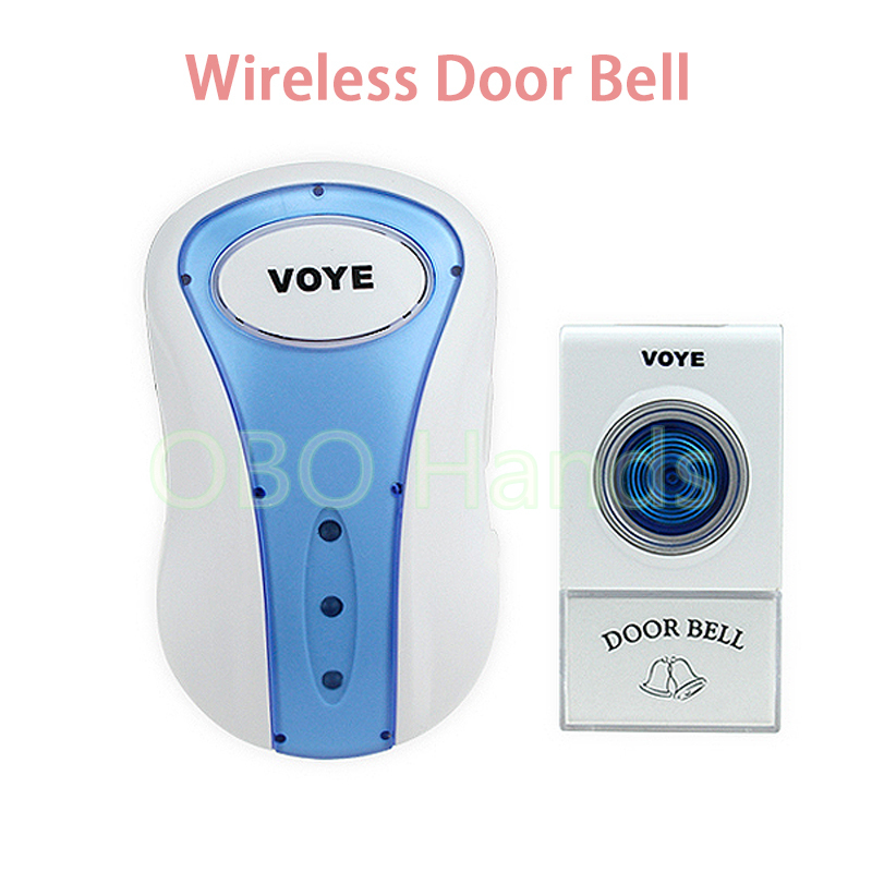 One to One Wireless door bell with LED light and 38 kinds of music ring+button for apartment/house/hospital/nursing home-V008A professional wireless door bell led