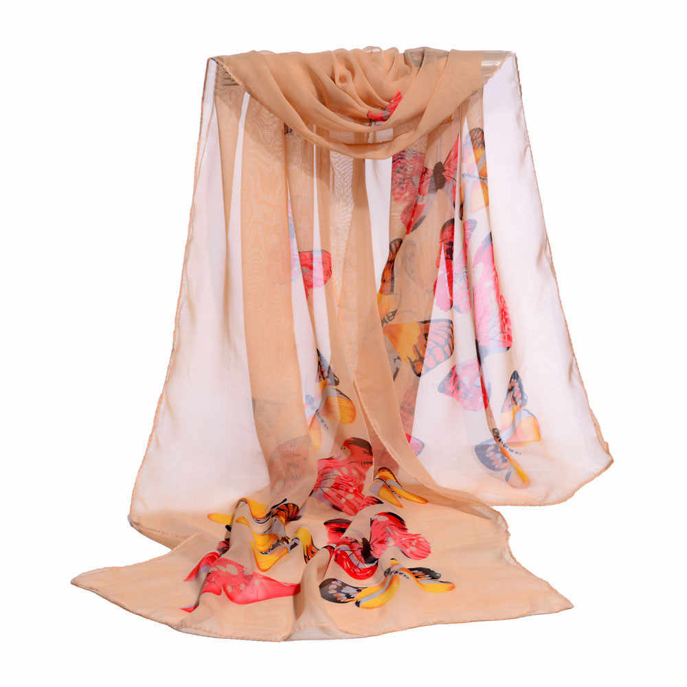 女性のスカーフファッション女性ロングソフトラップスカーフ女性ショールシフォンスカーフ新春新人デザイナーエレガントな Scarve # H20