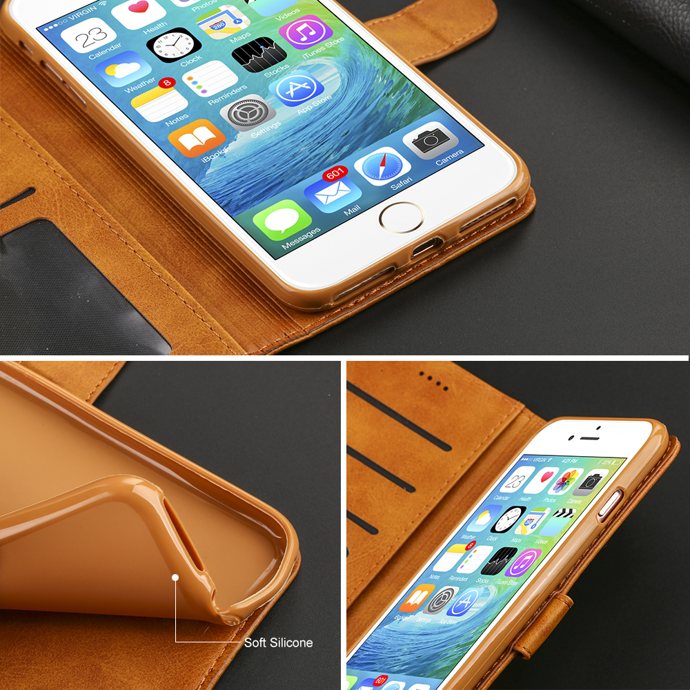 Image 5 - Luxury Leather Flip Case For iPhone 7 8 6 s 6s plus X XS Max XR 11 Pro Max Cover Card Holder Wallet Case For iPhone 5 5S SE-in Flip Cases from Cellphones & Telecommunications
